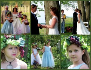 Brook and Brandon's green wedding at the Crow Farm and Winery April 2012