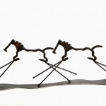 Equestrian by Daniel Raimond from the Studio of Heise Metal Sculpture