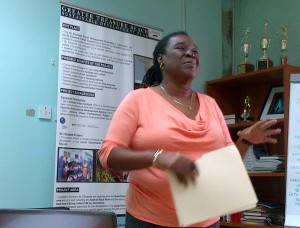 Carole Beckford of the Business of Sports and Usain Bolt's publicist at the Sports Tourism Strategy workshop hosted by the St. Elizabeth Parish Development Committee (PDC)