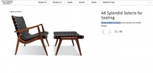 "Interior Design Picks 4 Smilow Furniture Designs for ""Splendid Selects Seating"""