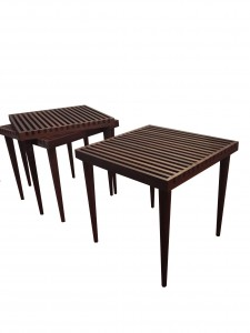 Smilow® Furniture New Slatted Stacking Tables Debut at ICFF